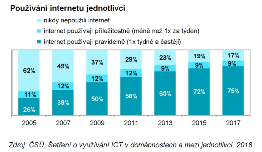 Používání internetu jednotlivci