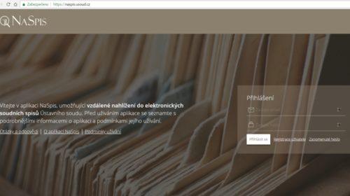 Komentář: Ústavní soud má aplikaci k elektronickému nahlížení do spisů, ale…