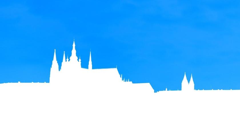 Praha silueta