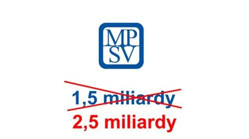 Informační systém MPSV bude stát 2,5 mld Kč