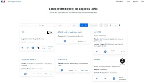 Francouzský open source katalog softwaru (SILL) získává vlastní web