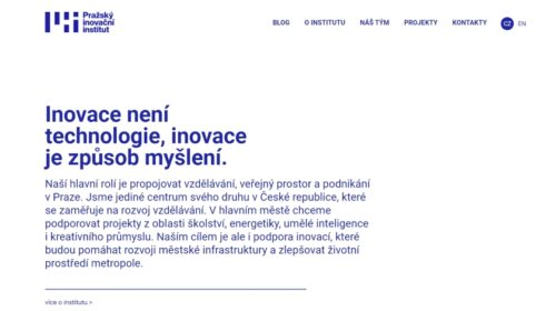 Pražský inovační institut představuje web a nové logo